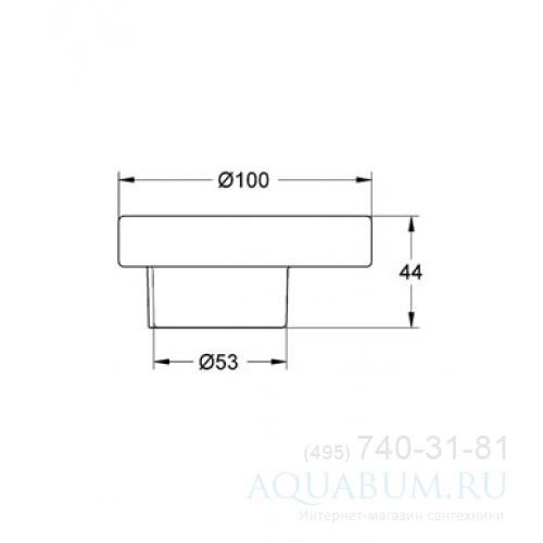Мыльница стеклянная Grohe Atrio / Ectos 40256 000 (40256000) для ...